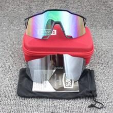 100% speedcraft Открытый Спортивные очки велосипедные очки Bicicleta Gafas UV400 объектив велосипедные очки 2 линзы