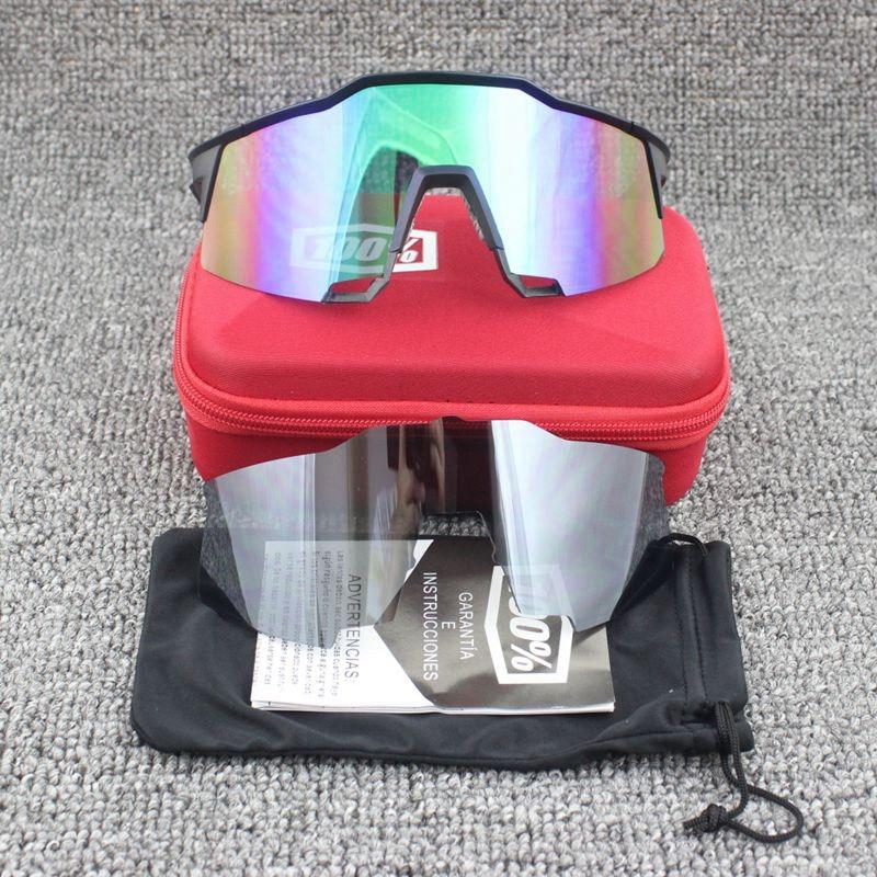 100% SpeedCraft Outdoor Sports goggles Bicycle Sunglasses bicicleta Gafas ciclismo UV400 lens Cycling <font><b>Glasses</b></font> Eyewear 2 Lenses