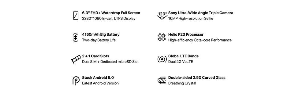 HTB1lvCdXFP7gK0jSZFjq6A5aXXaZ UMIDIGI A5 PRO Android 9.0 Octa Core Mobile Phone 6.3' FHD+ 16MP Triple Camera 4150mAh 4GB RAM 32G ROM Smartphone gsm unlocked