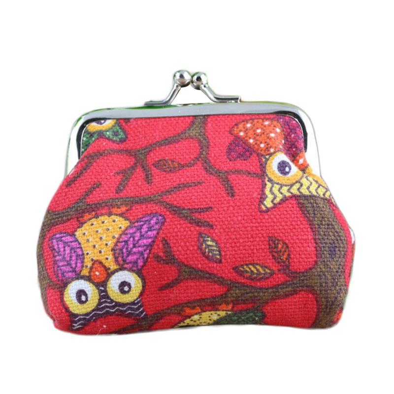 Laamei Embroidered Women Coin Purse Lovely Female Coin Wallets Lady Mini Change Pouch Hasp Owl Purse Monedero Desigueal Mujer стоимость
