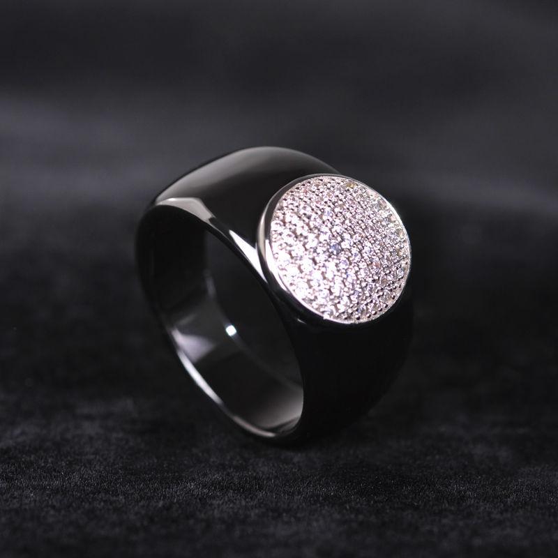 Dazz Sederhana Hitam Putaran Zircon Keramik Perhiasan Set Anting - Perhiasan fashion - Foto 2