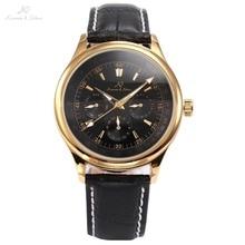 Classic Ks Caja de Oro de Lujo Auto de Viento Automático Relojes Analógicos Calendario Elegante Muñequera Regalo Reloj Mecánico de Los Hombres/KS095