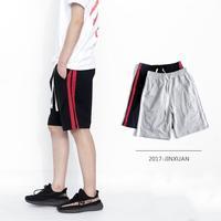 Для мужчин одежда новый продукт 2017 Сплайсинга Спортивные Бег Для Мужчин's Шорты с простой бар и свободные Для мужчин женские повседневные шо