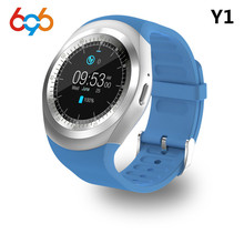 696 Y1 Смарт-часы Круглый Поддержка Nano SIM и карты памяти с WhatsApp и Facebook Фитнес Бизнес SmartWatch для Android и iOS телефонов