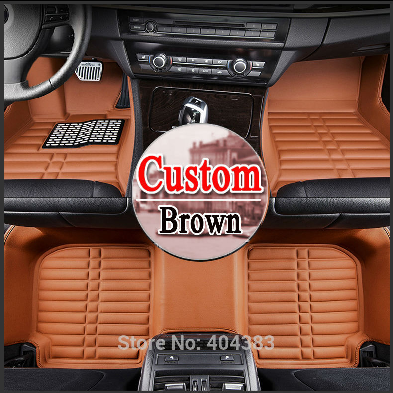 floor case car floor mats for Honda Accord crosstour fit Odyssey CRV CIVIC Spirior 3D car-styling carpet floor liner kalaisike leather universal car seat covers for honda all models crv xrv odyssey jazz city crosstour civic crider fit accord