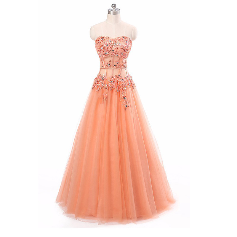 Aliexpress Com Buy Simple Elegant See Through Lace Part: Prom Dresses 2016 New Arrival Sweetheart Neck See Through