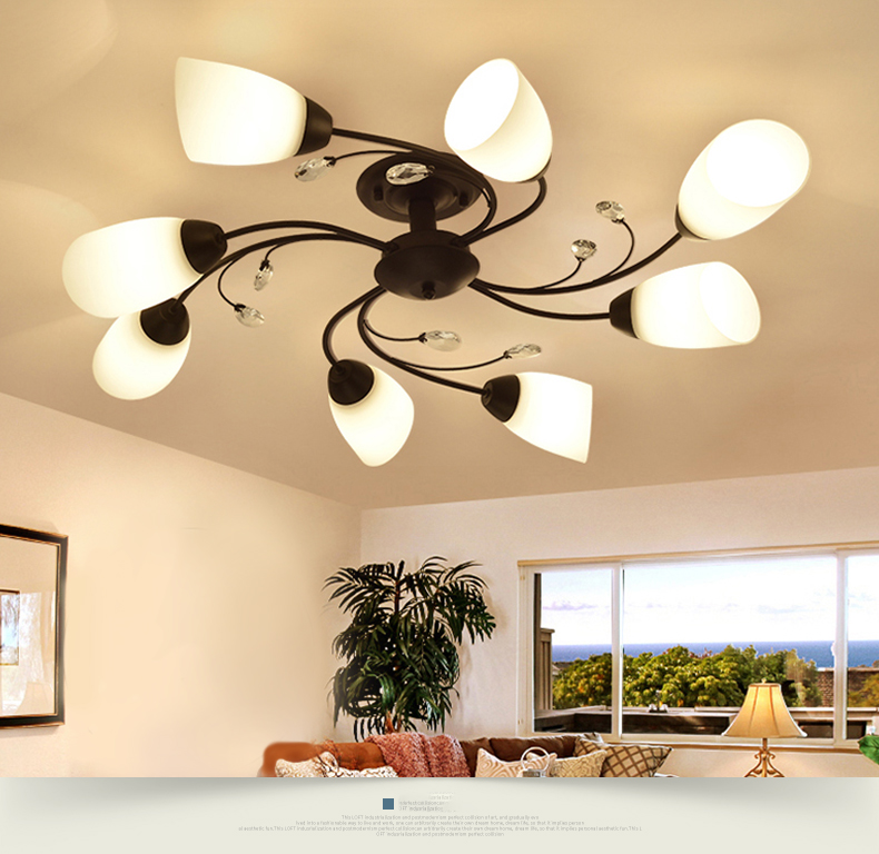 DX Rotate Flowe rLed Chandelier (1)
