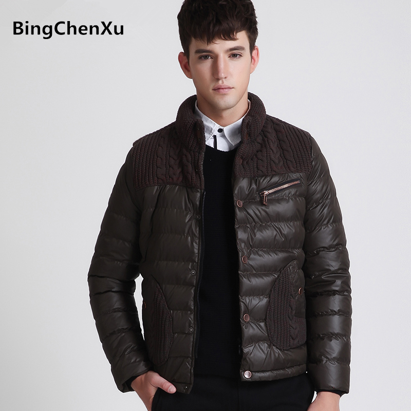 2017 Hot Sale Outerwear Men Down Jacket Casual Fashion Brand Cotton-Padded Down Jacket Men Winter Super Warm Zipper Coat 439 hot sale cotton solid men tank top