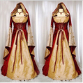 Хэллоуин костюмы для женщин белоснежка королева косплей костюм для взрослых принцесса платье партии для девочек Средневековый костюм