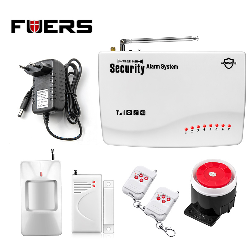 ФОТО FUERS Wireless GSM Home Alarm System SMS Autodial House Home Security System Intruder Alarm Russian/English Voice  G11z alarm