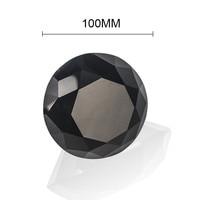Big Size 100mm High Quality 1pcs/lot Colorful Stone 10 Colors Glass Crystal Diamond Shape Pendants Wedding/Party Favor Decor