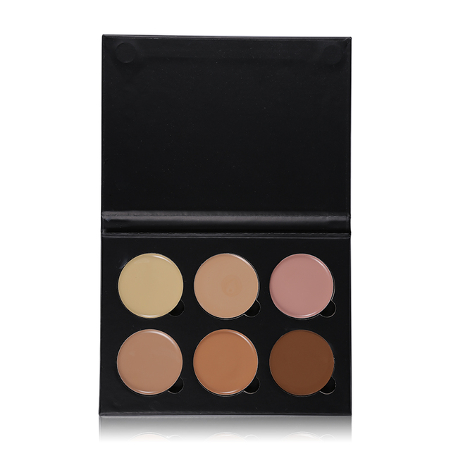 UCANBE Brand 6 Colors Highlight Contour Palette Light to Medium 3D Contouring Makeup Corrector Concealer Cream Make Up Cosmetics