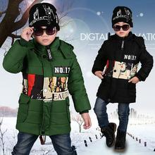 2016 Fashion New Winter Coat's Child Warm Thick Cotton Padded Jacket Coats Winter Duck Down Coat Kids Infant Clothes Outerwear
