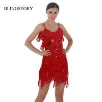 Fashion Europe Brand New Paillette Tassel Short Dresses Cheap Vestido Fiesta KR4003 4