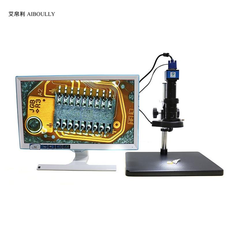 Agrandie 200 fois l'instrument de Diagnostic de réparation avec plusieurs ensembles de Microscope vidéo de VGA-200 mégapixels en ligne croisée
