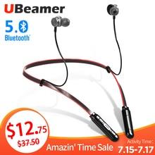 UBeamer новейший Bluetooth 5,0 наушники Q9 беспроводная гарнитура водонепроницаемые наушники на шею стерео звук для i10 HD вызов/Спорт