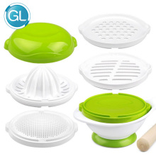 GL 8pcs/Set Baby Grinding Food Bowl  Baby Food Mills Supplement Feeding Grind Food Hygiene Kit Handmade Manual Cooking Tools multifunction baby cooking machine baby food supplement electric baby food grinder cooking mixer automatic food mills 220v