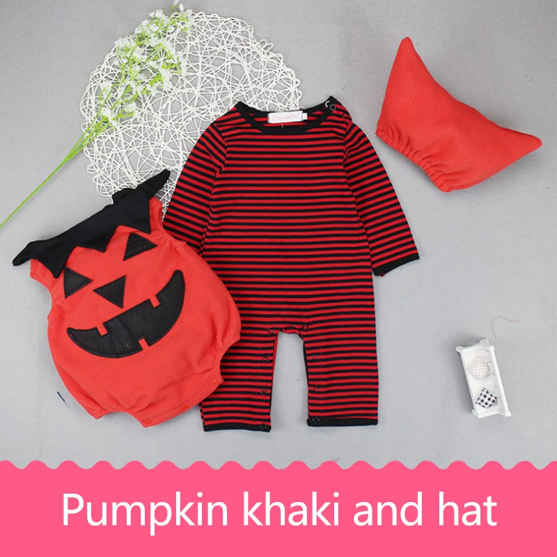 2017 Halloween baby suits Pumpkin clothes Newborn Baby Clothes Baby girls Clothing Roupa Infant Jumpsuits Cute Baby Clothes set цена