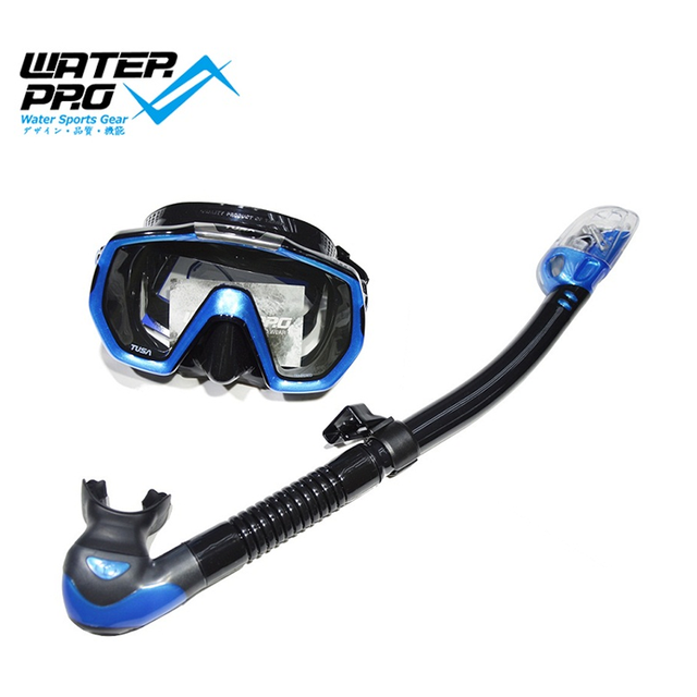 TUSA Diving Mask Snorkel Set (M1003 Diving Mask + SP-0101 Dry Snorkel) Scuba Diving Water Sports