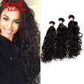 8A Peruvian Virgin Hair Water Wave Virgin Hair Extensions Rosa Queen Hair Products 3Pcs Peruvian Wet And Wavy Hair Weave Bundles