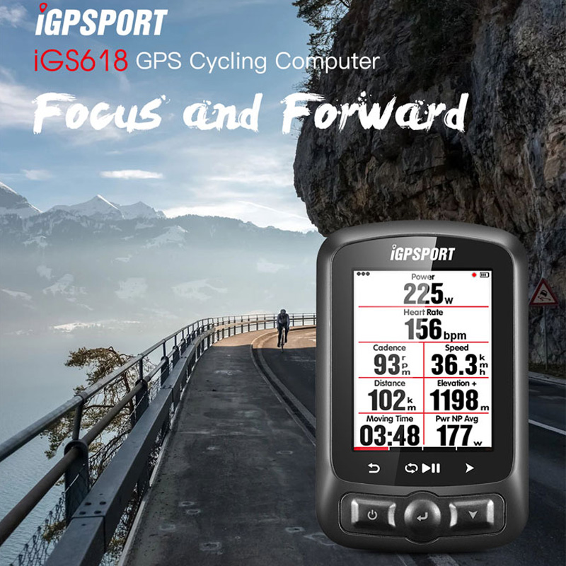 11 Languages IGPSPORT IGS618 GPS Cycling Computer Wireless IPX7 Waterproof Bicycle Digital Stopwatch Cycling Speedometer