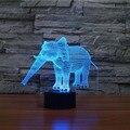 Incrível Ilusão 3d Elefante Lâmpada LED Luzes da Noite com 7 Cores Lâmpada como a Decoração Home Presentes Bonitos para Meninos Das Meninas