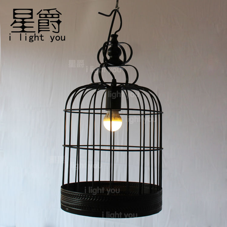 Bird Cage Industrial Vintage Edison Loft Pendant Cafe Bar Store Decorative Hanging Lamp new loft vintage iron pendant light industrial lighting glass guard design bar cafe restaurant cage pendant lamp hanging lights