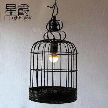 Cage à Oiseaux Industrielle Vintage Edison Loft Pendentif Café Bar Magasin Lampe Suspendue Décorative
