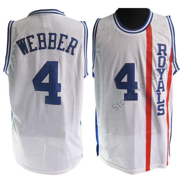4 Chris Webber Cincinnati Royals Retro Classic Basketball Jersey