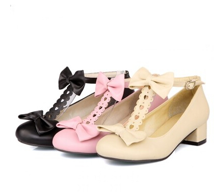2016 De Código Beige Redondas Personalizado La rosado Baja Boca Coreano Primavera Tamaño Zapatos Arco Dulce Estilo Nuevos Y Con Áspero Japonés negro FwnUFEqrHx
