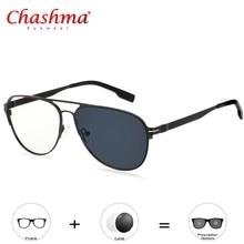 High Quality Transition Sun Readers Photochromic Reading Glasses Men alloy Frame Degree