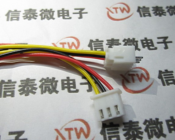 10Sets/LOT XH Single Head Cable / Electronic Wire / XH2.54-3P Single Head Lines / Other End Tinned / Long 30CM Wholesale