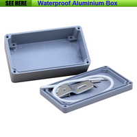 Free Shipping 1piece Lot Top Quality 100 Aluminium Material Waterproof IP67 Standard Aluminium Box For Electronic