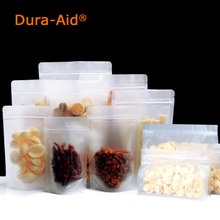 100/500PCS Dura-Aid frosted ziplock bags plastic zipper bag , Matte Transparent Packaging Bags free shipping