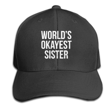 62dae659b9880 World s Okayest Sister Unisex Baseball Caps Adjustable Funny Plain Visor Hat (China)
