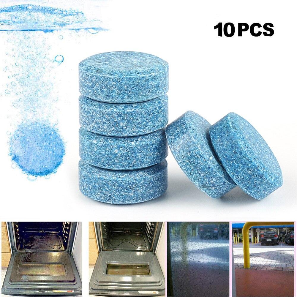 10 Teile/los Camp Clean Tool Reiniger Reinigung Kompakte Pillen Brause Tabletten Glas Wasser Feste Wischer