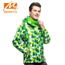 MERRTO Men Waterproof Outdoor Camping Hiking Thermal Coat 2 pieces Jacket Autumn&Winter Overcoat Outwear Jacket #Multy