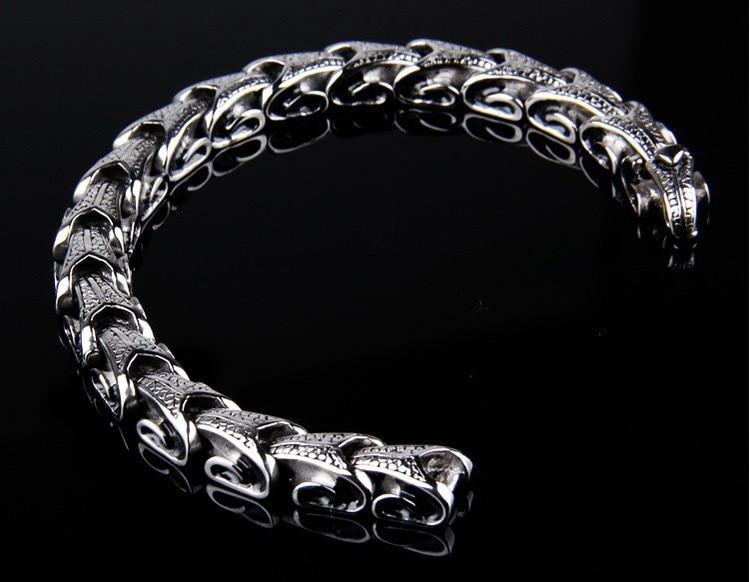 Stainless Steel Dragon Grain Bracelet