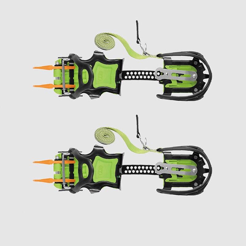 BRS Crampons À Glace Pince De Traction Crampons Neige Poignées Avec 14 Pointes Pour Professionnel Alpinisme Chaussures de Marche Sur Glace Escalade