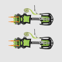 BRS Crampons Ice Gripper Traction Cleats Snow Grips With 14 Spikes For Professional Mountaineering Shoes Walking On Ice Climbing