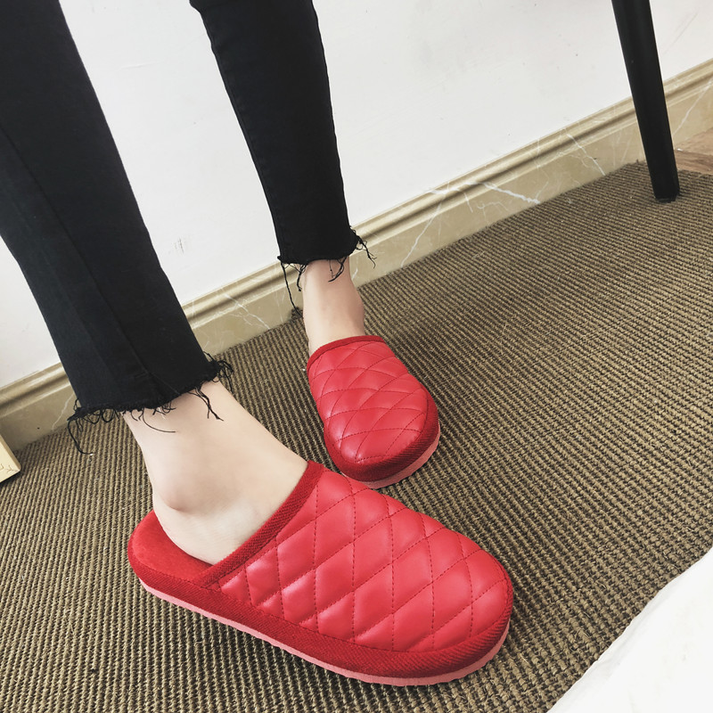 New Indoor Warm Emoji Slippers Winter Cotton Plush Slipper Women Men 2018 Emoji Shoes Lovers Emoticon Winter Soft Shoes high quality new autumn winter velvet ladies slippers women indoor rubber sole waterproof skid warm shoes woman zapatillas emoji