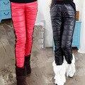2016 NUEVAS muchachas del invierno pantalones calientes de los niños, además de terciopelo a prueba de viento y pantalones bajados espesar diseño algodón de las muchachas abajo