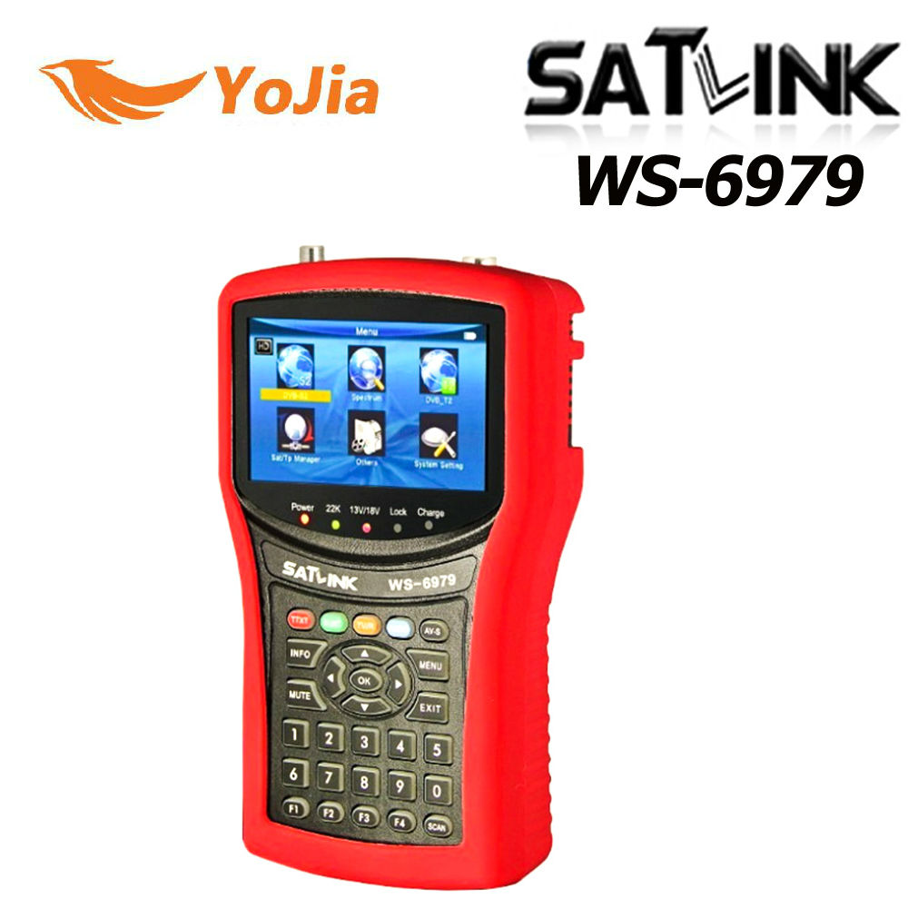 Yojia Original Satlink WS-6979 DVB-S2&DVB-T2 Combo digital satellite finder Spectrum analyzer constellation WS 6979 meter finder satlink ws 6980 7inch hd lcd screen dvb s2 dvb t dvb t2 dvb c ws 6980 combo finder with spectrum analyzer constellation meter