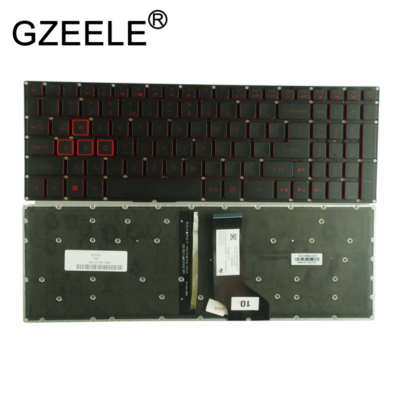 GZEELE New for Acer Aspire VX 15 VX15 VX5-591G VX5-591 VX5-793 VN7-593 VN7-793 VN7-793G Backlit Keyboard US English BLACK ноутбук acer aspire v nitro vn7 591g 771j nx muyer 002