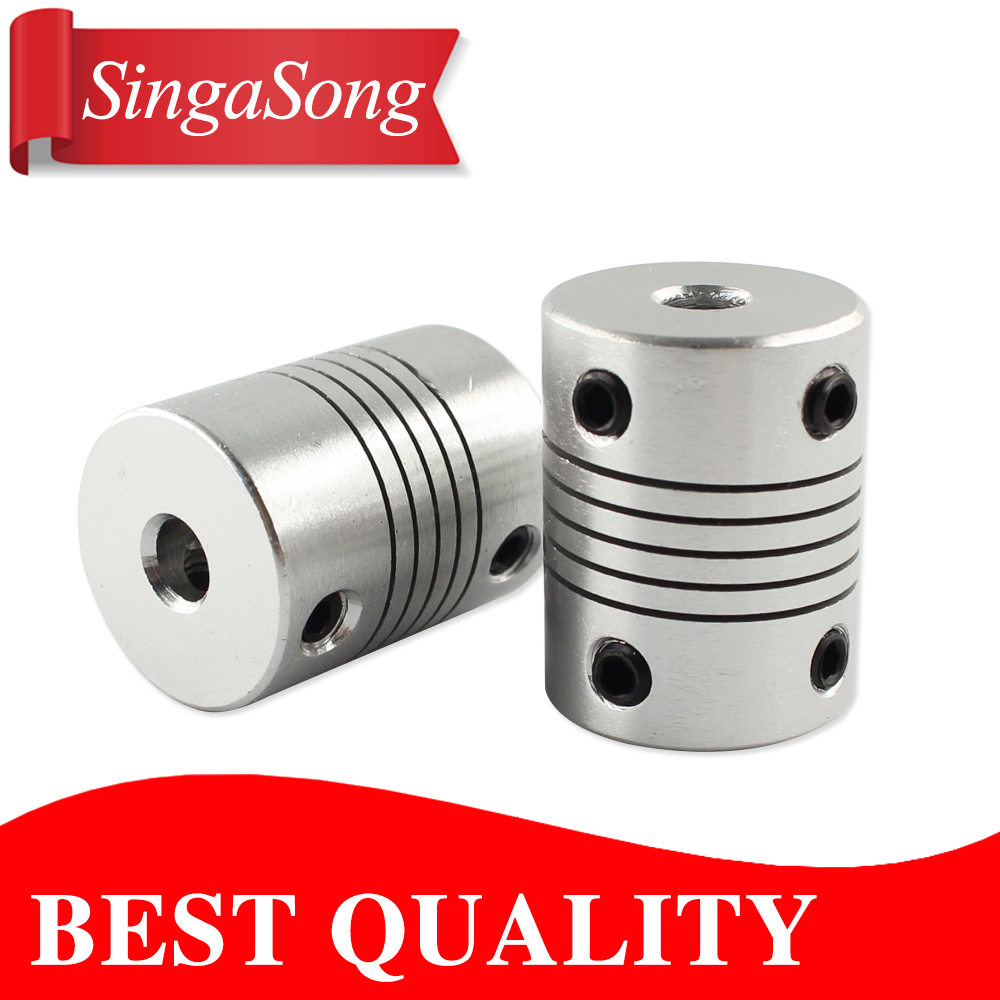 4pcs 6x8mm CNC Motor Jaw Shaft Coupler 6mm To 8mm Flexible Coupling OD 19x25mm wholesale Dropshipping flexible shaft coupling od18mmx25mm cnc stepper motor coupler connector 6 35 to 8mm