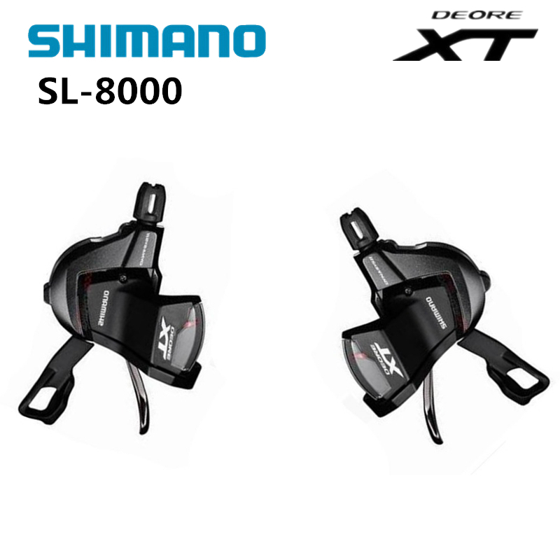 SHIMANO Deore XT SL-M8000 RAPIDFIRE Plus Shift Lever (11-speed) Right MTB Bike Bicycle Derailleurs Speed Trigger Shifter shimano x t r sl m9000 thumb shifter left & right mtb mountain bike derailleurs 11s 22s 33s speed bicycle transmission