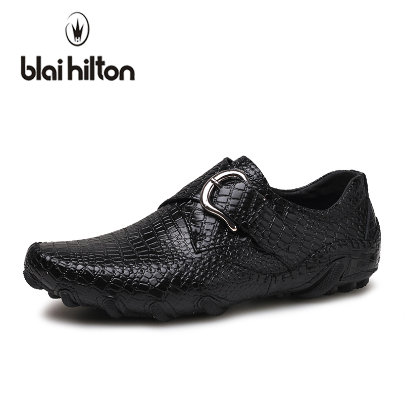blaibilton 2018 Summer Genuine Leather Loafers Men Casual Shoes Sneakers Slip On Luxury Fashion Male Moccasins Driving Footwear farvarwo genuine leather alligator crocodile shoes luxury men brand new fashion driving shoes men s casual flats slip on loafers