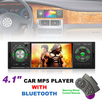 4.1 Inch 1 Din Bluetooth Car MP5 Player TFT Touch Screen Stereo Audio FM Station Radio Auto Video with Remote Control