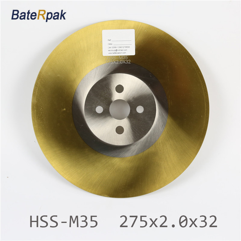 275x2.0x32mm BateRpak High quality HSS-M35 circular saw blade  Widely used in Cutting Various metals,Ti-coated 1 packs high quality 10pcs hcs hss ground teeth straight cutting t shank jig saw blade for wood