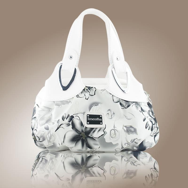 Hot 2017 Top-Handle Bags Flowers fashion foldable tote bags retro vintage women leather handbags tote trendy purses and handbags 3